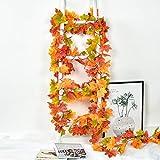 2 Pack Fall Garland Maple Leaf, Hanging Vine