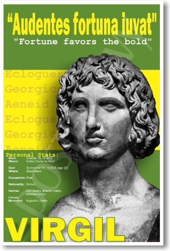 Ancient Rome: Virgil - Fortune Favors the Bold - Classroom Poster