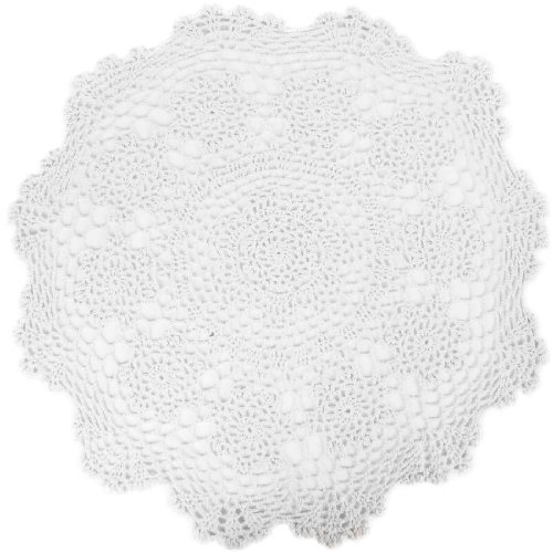 Oval Tablecloth Crochet Pattern (kilofly Crochet Cotton Lace Table Placemats Doilies Value Pack, 4pc, Rosary, White, 19.6 inch)