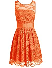 Amazon.com: Orange - Bridesmaid / Wedding Party: Clothing, Shoes ...