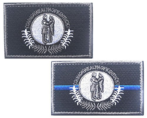 HFDA 2 piece KENTUCKY Flag Patches Velcro Morale Patches Clo