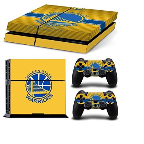 MATTAY-Golden-State-Warriors-Whole-Body-Vinyl-Skin-Sticker-Decal-Cover-for-PS4-Playstation-4-System-Console-and-Controllers