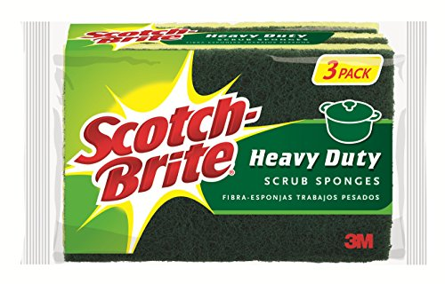 Scotch-Brite Heavy Duty Scrub Sponge, 3 Count (Pack of 8)