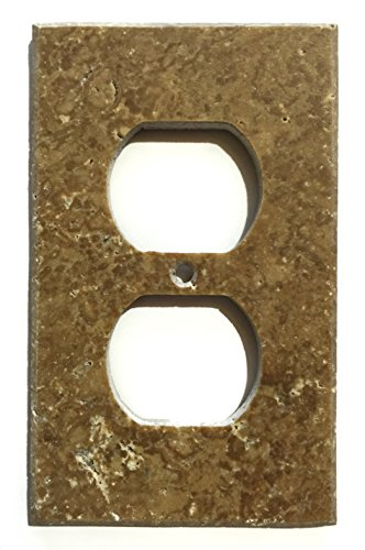 Noce Travertine Switch Plate Cover (SINGLE ()