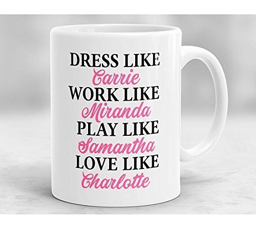 Stuffy Blue Dragon Costume (Dress Like Carrie, Work Like Miranda, Play Like Samantha, Love Like Charlotte Mug, Sex And The City Mug, Carrie Bradshaw Mug)