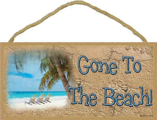 Gone To The Beach Chairs Sign Plaque 5