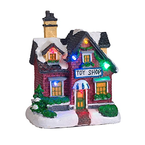 Battery Operated LED Light Up Christmas Village Scene by Lights4fun, Inc. (Image #3)