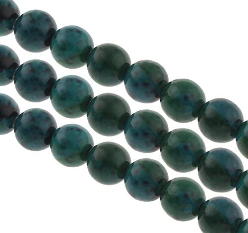 """Naturel Bleu 10 mm Jade Collier Ronde Pierres Précieuses Perles 18/"""""""