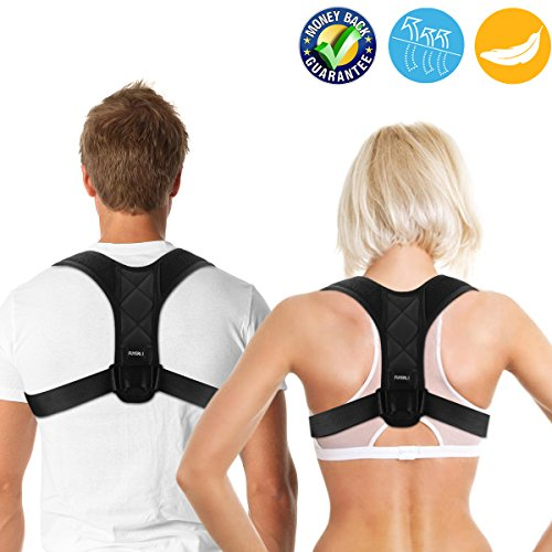 FUYERLI Posture Corrector for Men and Women with Adjustable Clavicle Brace by FUYERLI