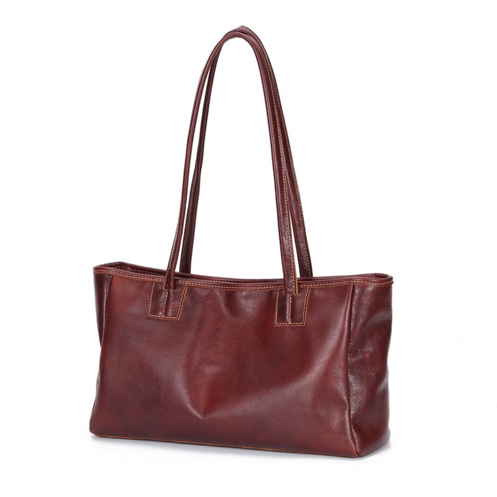 LII ハンドバッグショルダーバッグ2019新しいファッションバッグ財布レザーカジュアルメッセンジャーバッグレディース (Color : Dark brown, Size : M) B07Q37JBYV