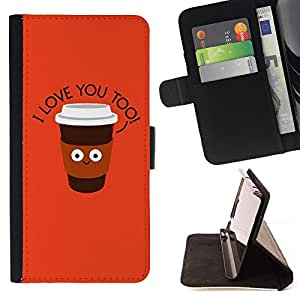 Jordan Colourful Shop - quote text orange cup joe office For Apple Iphone 4 / 4S - Leather Case Absorci???¡¯???€????€????????&c