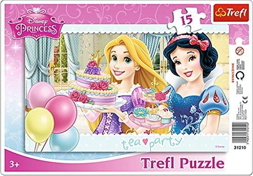 Trefl Frame Disney Princess Tea Party Puzzle (15 Pieces) ()