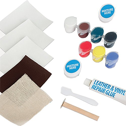 Ideaworks Leather & Vinyl Repair Kit for Rips, Tears, Holes and Burns | Easy Home Use Jobar International