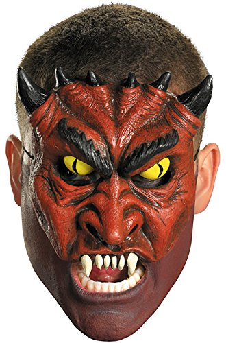 Devil Doll Costume (Disguise Costumes Chinless Blood Devil Vinyl Mask, Adult)