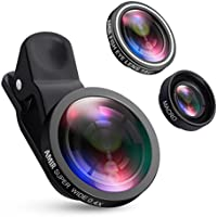 AMIR Camera Lens Kit, 0.4X Super Wide Angle Lens + 180°...