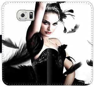 Caja del cuero de Natalie Portman C6Q5D Funda Samsung Galaxy S6 Edge Plus Funda Caso KO1sO4 Teléfono Móvil Flip funda genérica