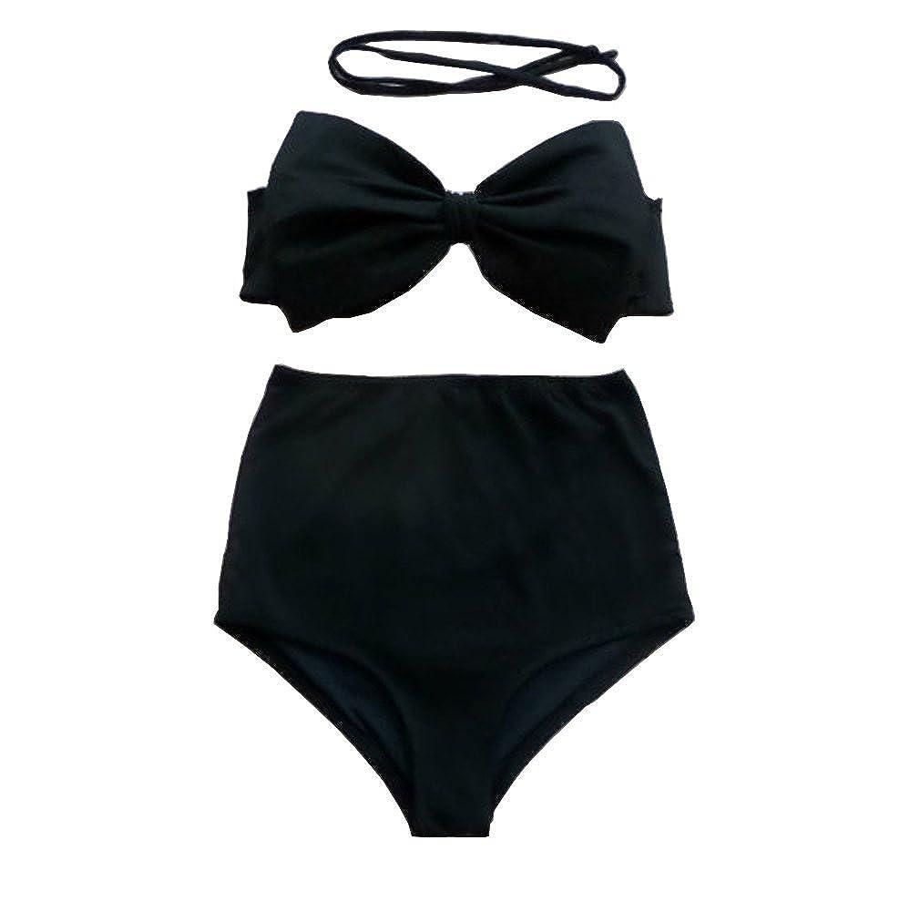 Ya Lida Retro Halter High Waist Bikini Carnival Swimsuit QQX11662