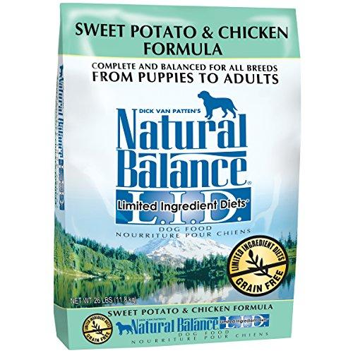 Natural Balance L.I.D. Limited Ingredient Diets Sweet Potato & Chicken Formula Dry Dog Food, 26-Pound