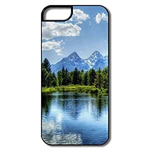For HTC One M9 Phone Case Cover Landscape Cases For For HTC One M9 Phone Case Cover - White/black Hard Plastic