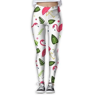 2018 Tropical Flamingos Women's Printed Sports Pants Yoga Pants Fitness Jogging Pants