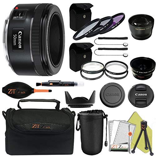 Canon EF 50mm f/1.8 STM Prime Lens ZeeTech Package (Proffesional Kit)