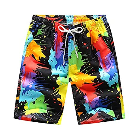 Classic-Fit Boys Big /&Tall Swim Trunks Board Shorts for Beach Outdoor Hiking