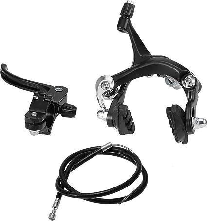 1 Set Road Bike Brake Caliper Front Rear Side Pull Brake Quick-Release Black