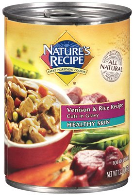 Nature's Recipe® 507590 Healthy Skin Venison & Rice Recipe Dog Food, 13.2 Oz