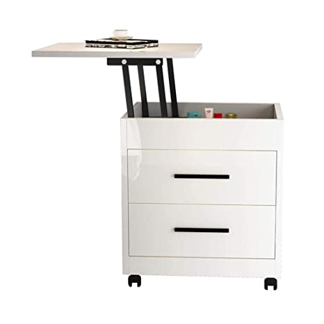 Amazon.com: Bedside table GJM Shop 360° Universal Wheels ...