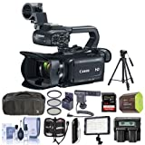 Canon XA15 Professional Camcorder with HDMI terminal and an HD-SDI interface - Bundle With Video Bag, 64GB SDHC Card, Spare Battery, Video Tripod, Video Light, Shotgun Mic, 58mm Filter Kit, And More
