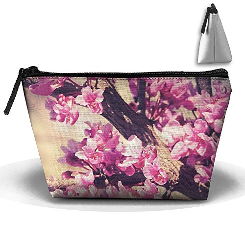 Cherry Bloom Makeup Bag Storage Portable Travel Wash Tote Zipper Wallet Handbag Carry - The Hill Cherry Mall