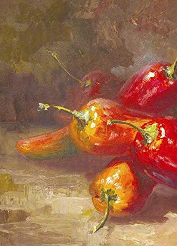 Oil Painting 'Still Life Of Chillis,Canvas Set', 18 x 25 inch / 46 x 64 cm , on High Definition HD canvas prints is for Gifts And Bath Room, Kitchen - Sunglasses Outside Life Live