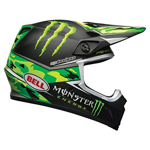 Bell Unisex-Adult Off Road Helmet (Pro Circuit Rep Camo Green, X-Large) (Mx-9 mips D.O.T (Rep Helmet)