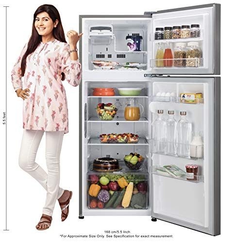 LG 308 L 2 Star Inverter Wi-Fi Frost-Free Double Door Refrigerator (GL-C322KPZY, Shiny Steel) 2021 August Important note : This product is 3-star rated as per 2019 BEE rating and 2-star rated as per 2020 BEE rating 308 Liters Double Door Frost Free Refrigerator: Auto defrost function to prevent ice-build up Energy Rating: 2 Star