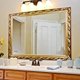 Large Bronze Bathroom Mirror Rectangular Wall Mounted Mirrors (32