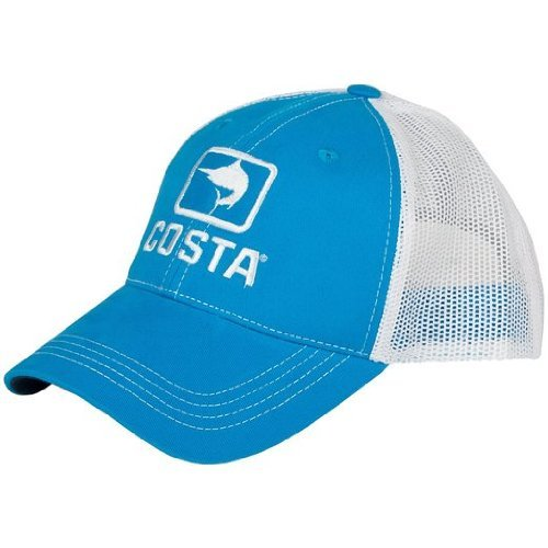 Costa Del Mar Marlin Trucker Hat, Blue/White, X-Large ()