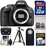 Nikon D5200 DSLR Camera with 32GB Card + Kit (Certified Refurbished)
