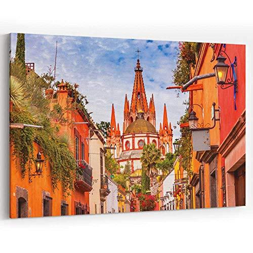 Actorstion Aldama Street Parroquia Archangel Church San Miguel de Allende Mexico Canvas Art Wall