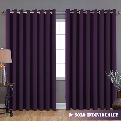 8.5' Glass (Premium Blackout Wider Curtains for Patio & Yard (100