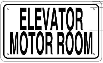 Amazon.com: Ascensor Motor sala signo (6 x 10 Sin óxido de ...