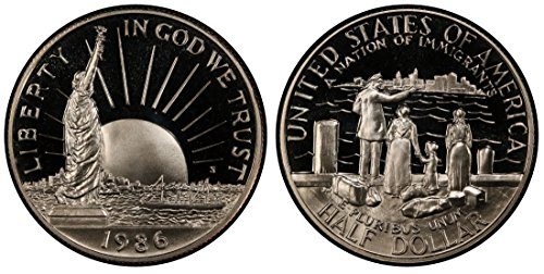 1986 S Statue of Liberty Proof Half Dollar $.50 Brilliant Uncirculated ()