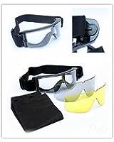 Gafas de seguridad protectoras con 3 tipos de lentes, negras, transparentes y amarillas, para airsoft, paintball y tiro