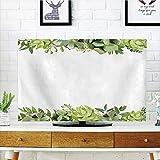 "lovely cactus garden design iPrint LCD TV Cover Lovely,Succulent,Cactus Flower Garden Green Fern Seasonal Branch and Leaves Frame Borders Decorative,Green Light Green,Diversified Design Compatible 47"" TV"