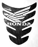 honda carbon fiber tank pad - Carbon Fiber Motorcycle Tank Protector Pad for Honda CBR CB VFR VTR TRX DN