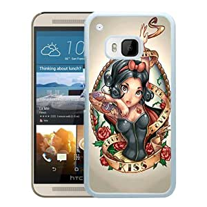 Lovely Snow White Princess White Fashionable Design HTC ONE M9 Plastic Case