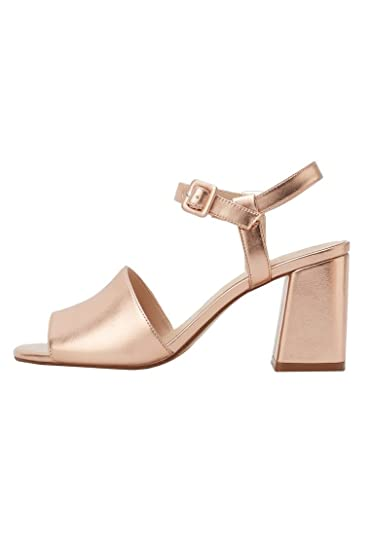 611a096f931a65 MANGO - Metallic ankle-cuff Shoes sandals - Size 8 - Color Salmon ...