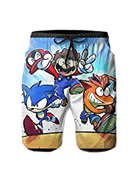 WIO-WINDO Cross-Over-Anime-Ganguri Men's Swimsuit Trunks Short Quick Dry Beach Shorts