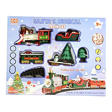 Amazon Com Santa S Musical Christmas Train Set By Uk