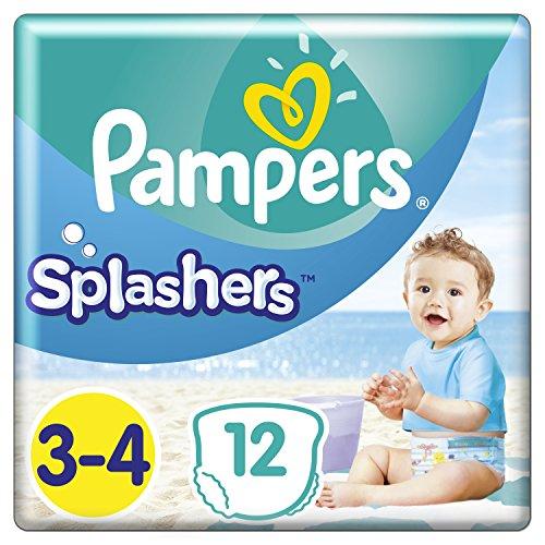 Pampers splashers desechables Bañador de hombre, tamaño 3/4, 6 A 11 kg, pack de 8: Amazon.es: Salud y cuidado personal