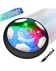 Growsland Kids toys Hover Soccer Ball, Rechargeable Air Power Floating Soccer Football Disk Colorful LED Light & Foam Bumpers Games Gifts Gadgets for Boys Girls Toddlers Birthday Indoor Outdoor